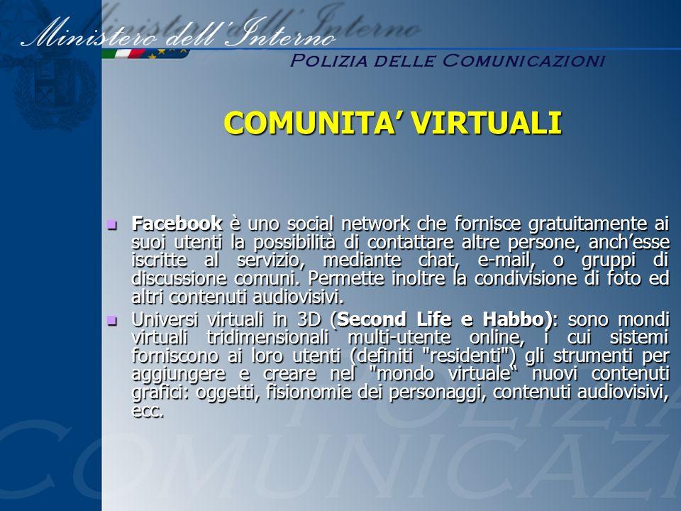 COMUNITA' VIRTUALI