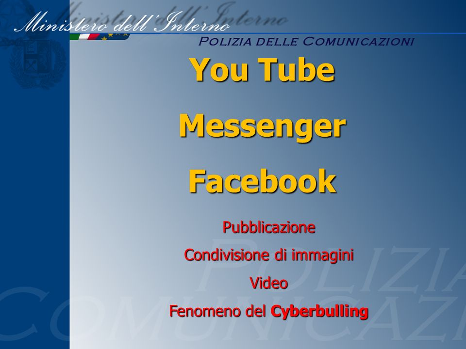 You Tube Messenger Facebook