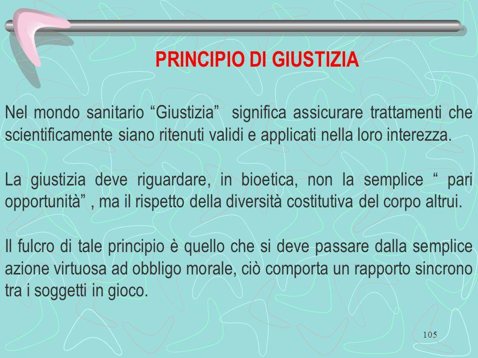 PRINCIPIO DI GIUSTIZIA