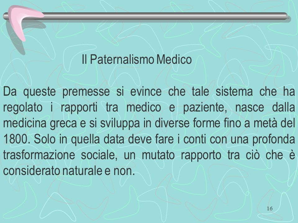 Il Paternalismo Medico