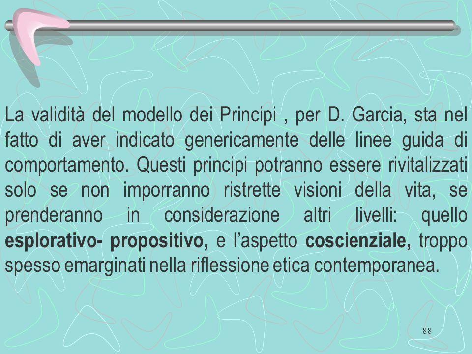 La validità del modello dei Principi , per D