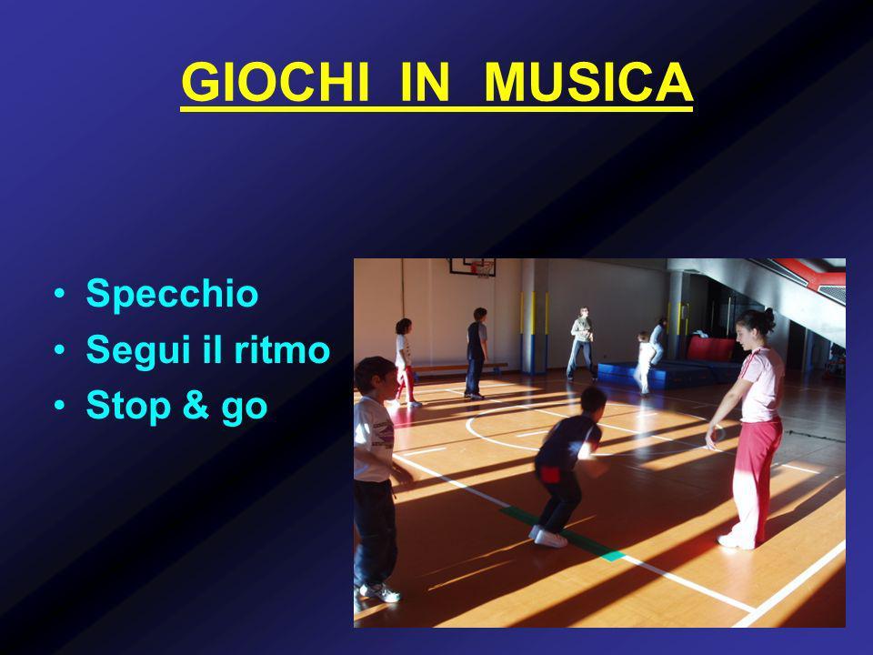 GIOCHI IN MUSICA Specchio Segui il ritmo Stop & go