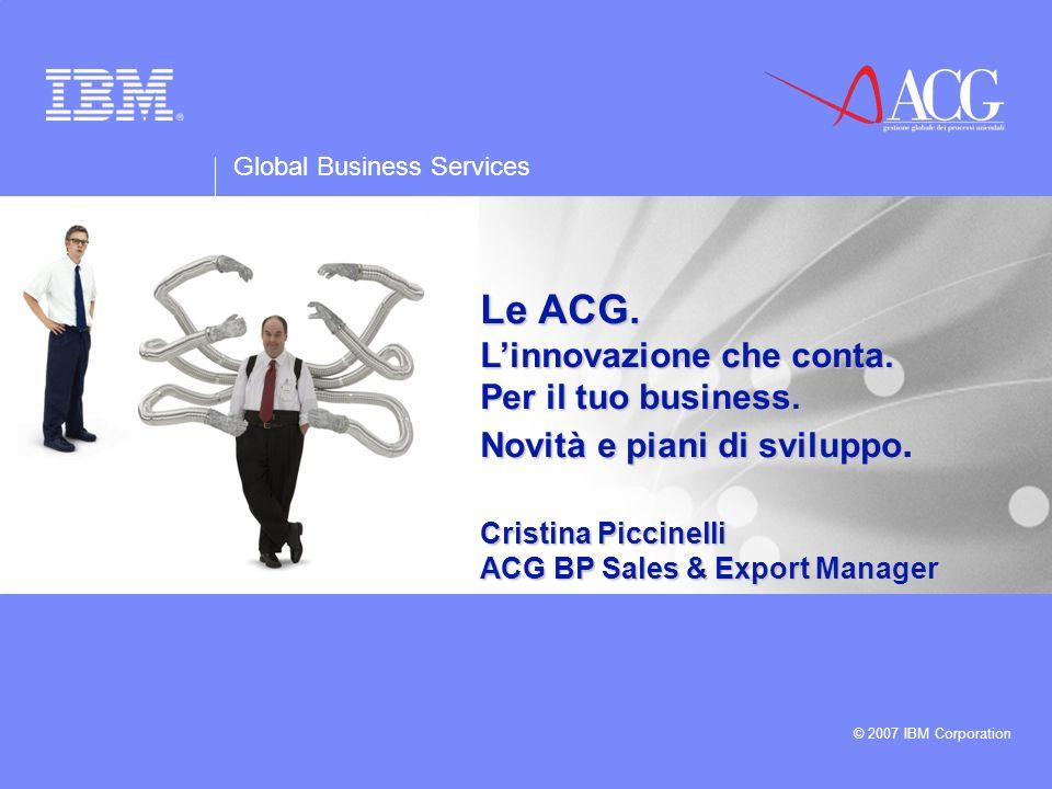 Le ACG. L'innovazione che conta. Per il tuo business