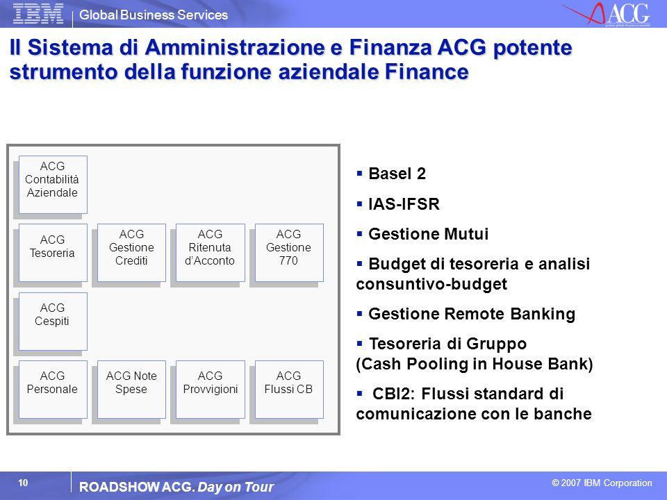 Il Sistema di Amministrazione e Finanza ACG potente strumento della funzione aziendale Finance