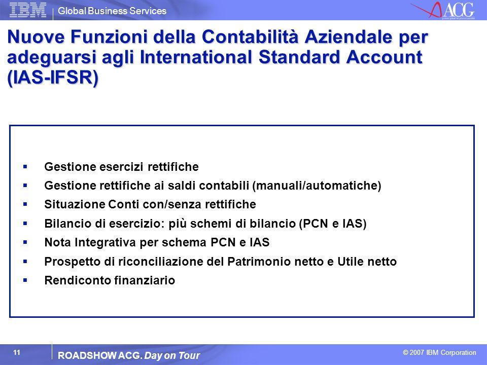 Nuove Funzioni della Contabilità Aziendale per adeguarsi agli International Standard Account (IAS-IFSR)
