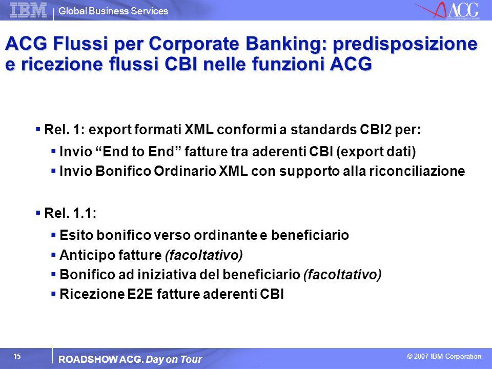 ACG Flussi per Corporate Banking: predisposizione e ricezione flussi CBI nelle funzioni ACG
