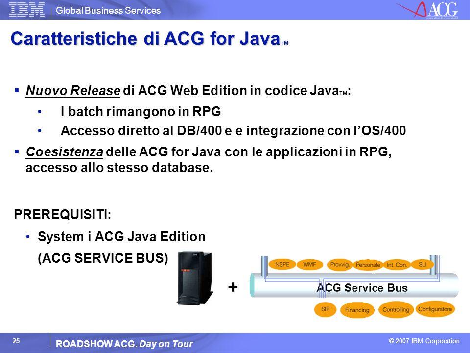 Caratteristiche di ACG for JavaTM