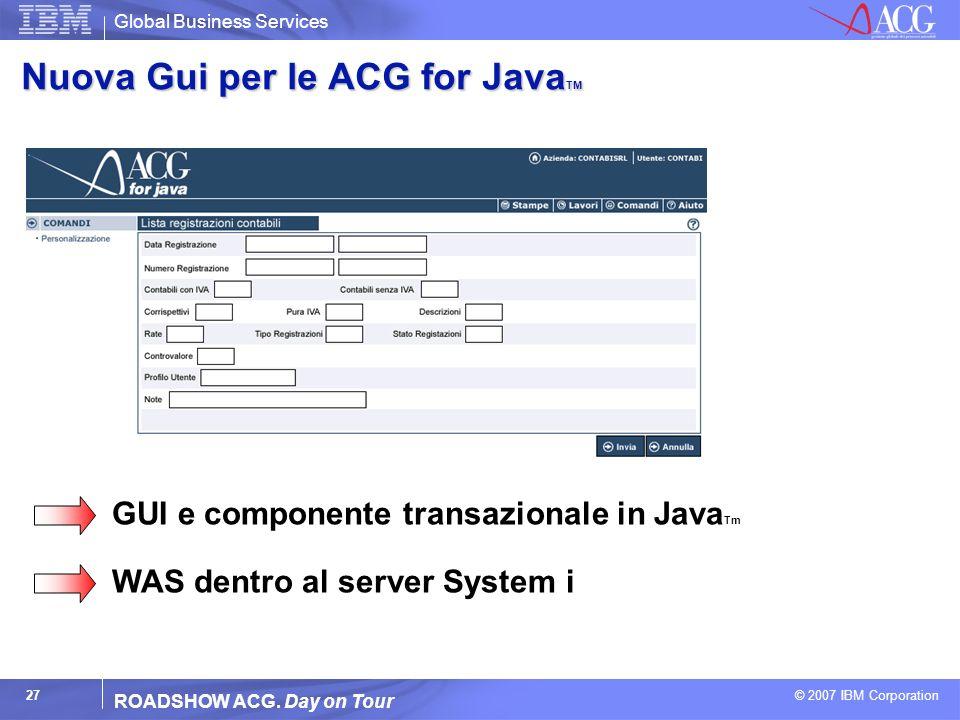Nuova Gui per le ACG for JavaTM