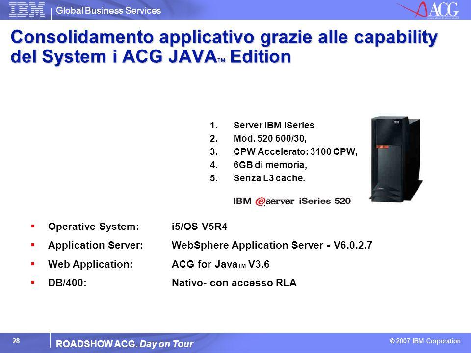 Consolidamento applicativo grazie alle capability del System i ACG JAVATM Edition