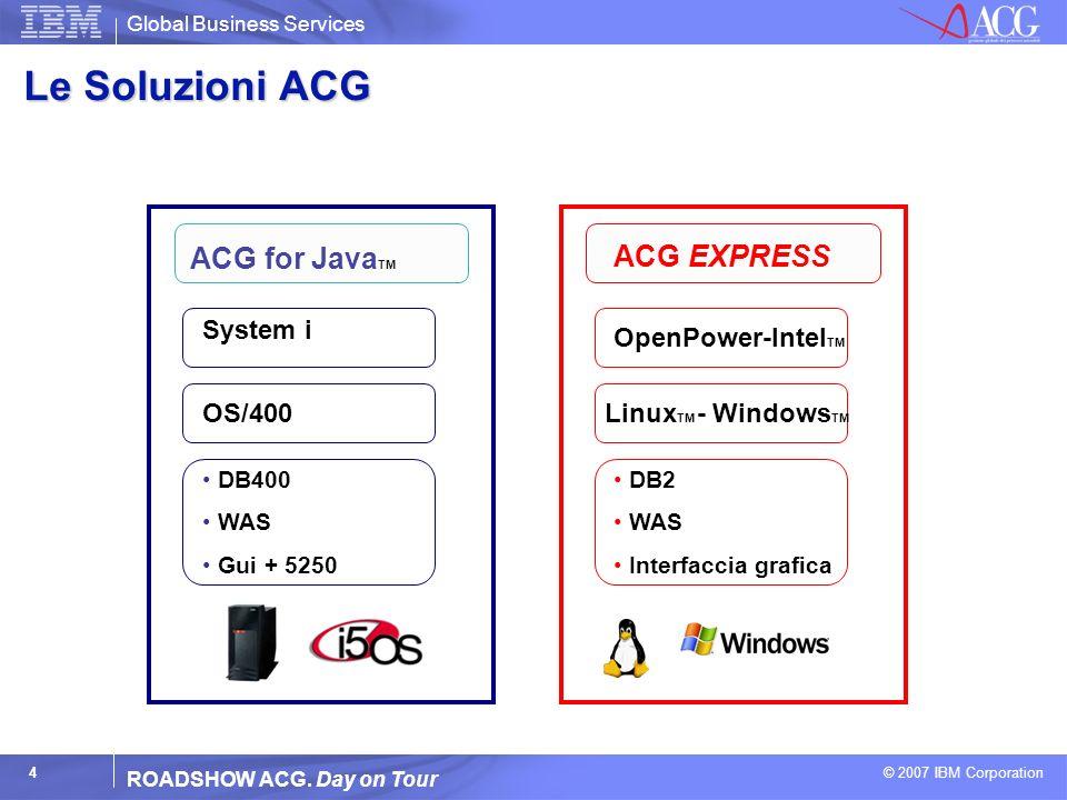 Le Soluzioni ACG ACG for JavaTM ACG EXPRESS System i OpenPower-IntelTM