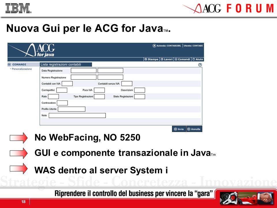 Nuova Gui per le ACG for JavaTM.