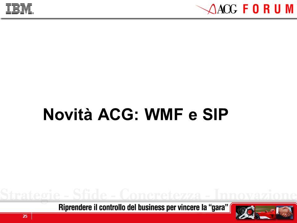 Novità ACG: WMF e SIP
