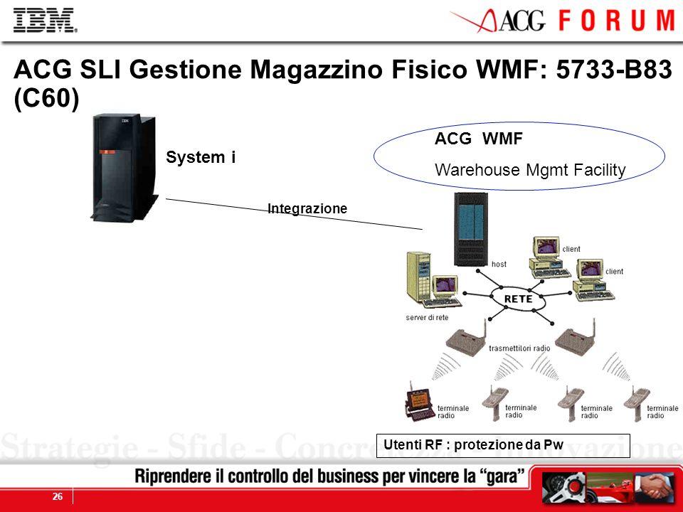 ACG SLI Gestione Magazzino Fisico WMF: 5733-B83 (C60)