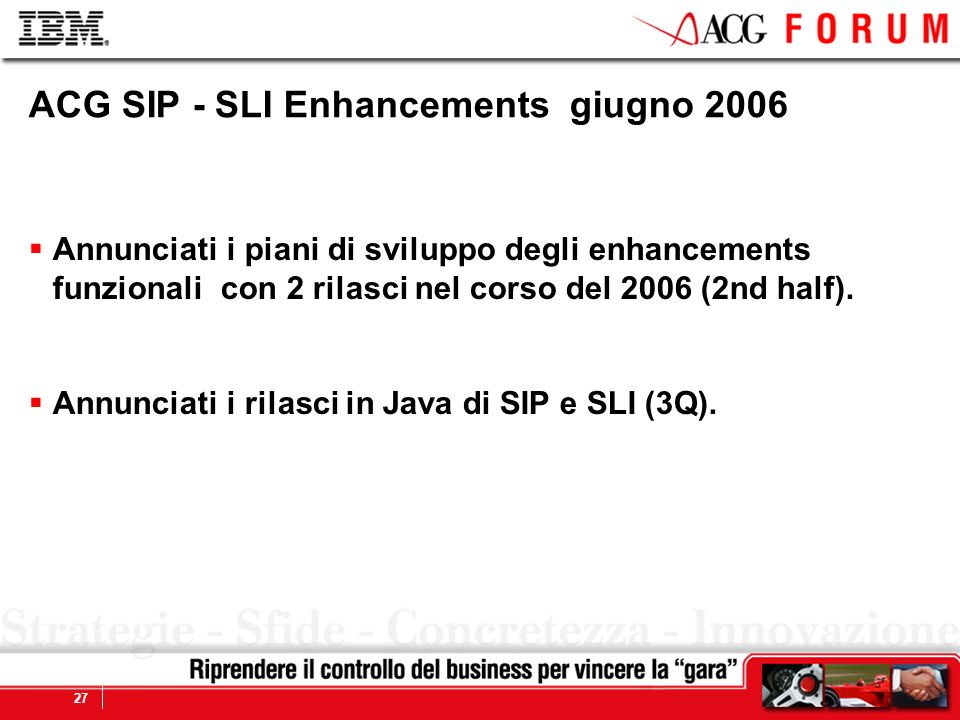 ACG SIP - SLI Enhancements giugno 2006