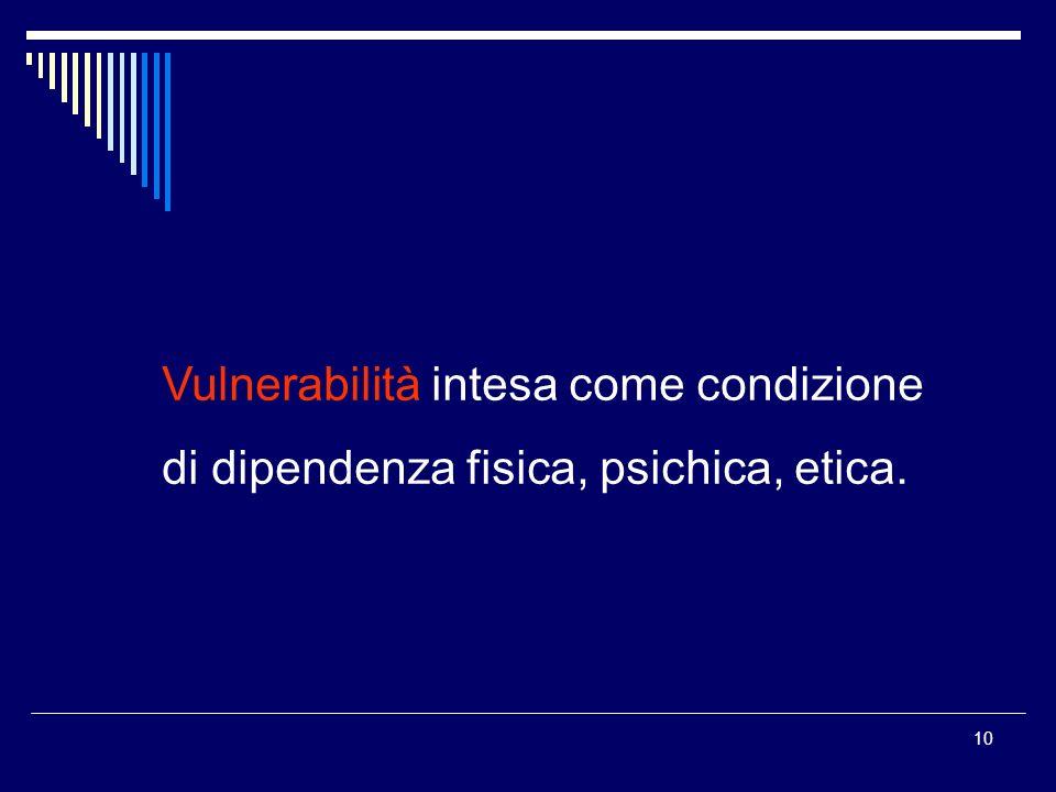 Vulnerabilità intesa come condizione