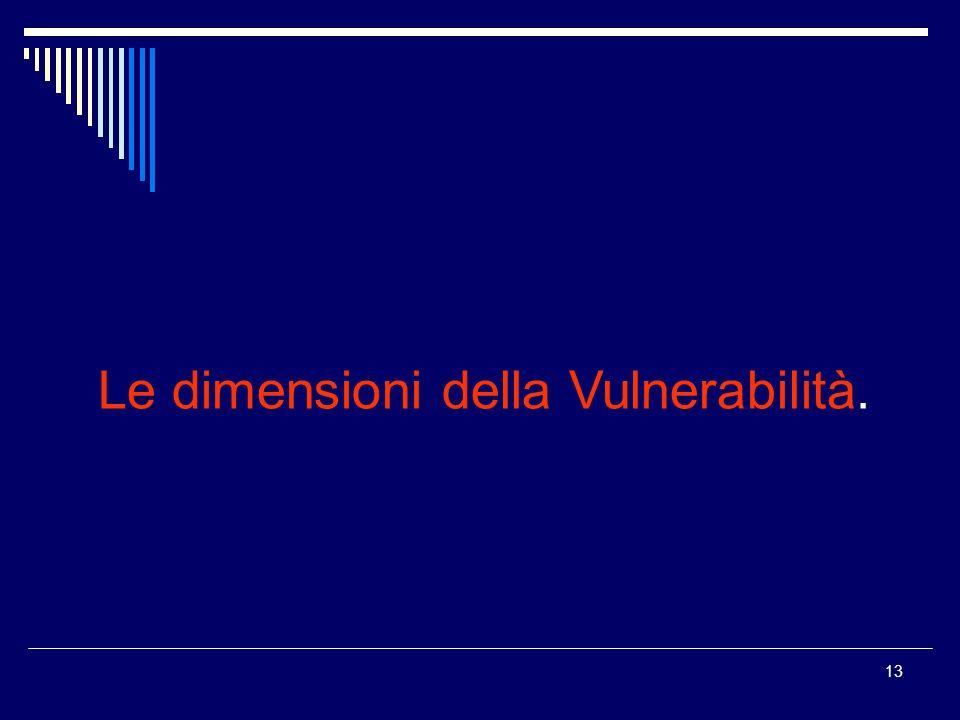 Le dimensioni della Vulnerabilità.