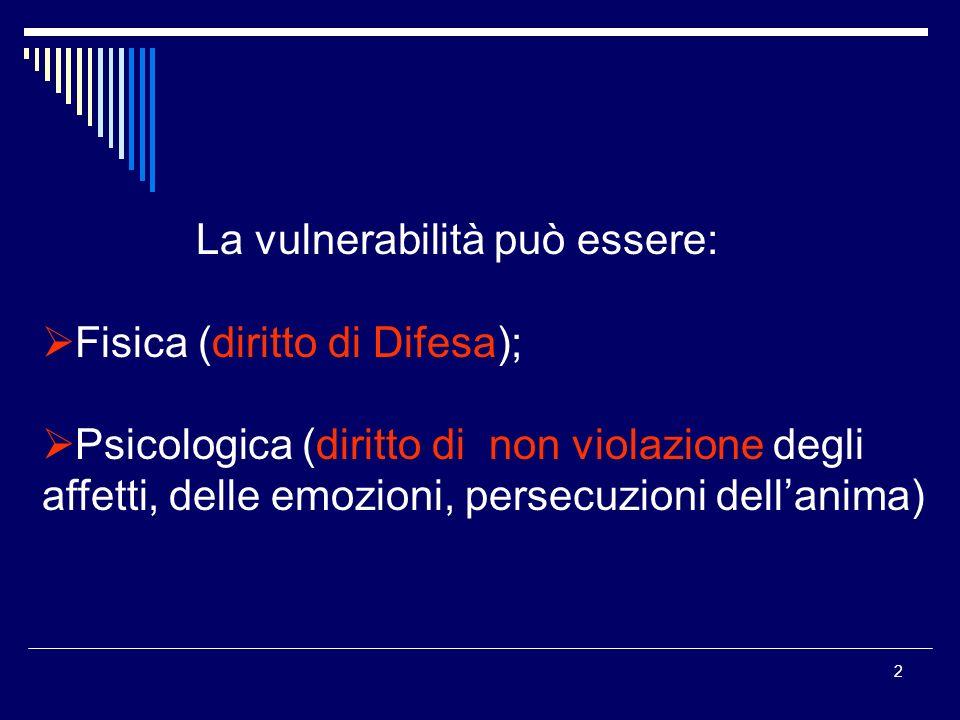 La vulnerabilità può essere: