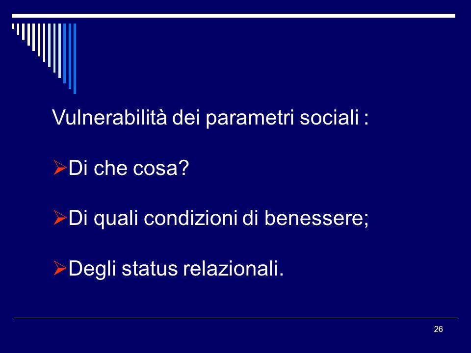 Vulnerabilità dei parametri sociali :