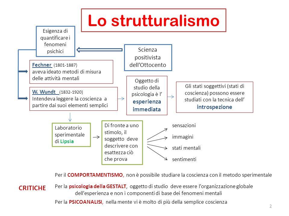 Lo strutturalismo CRITICHE Scienza positivista dell'Ottocento