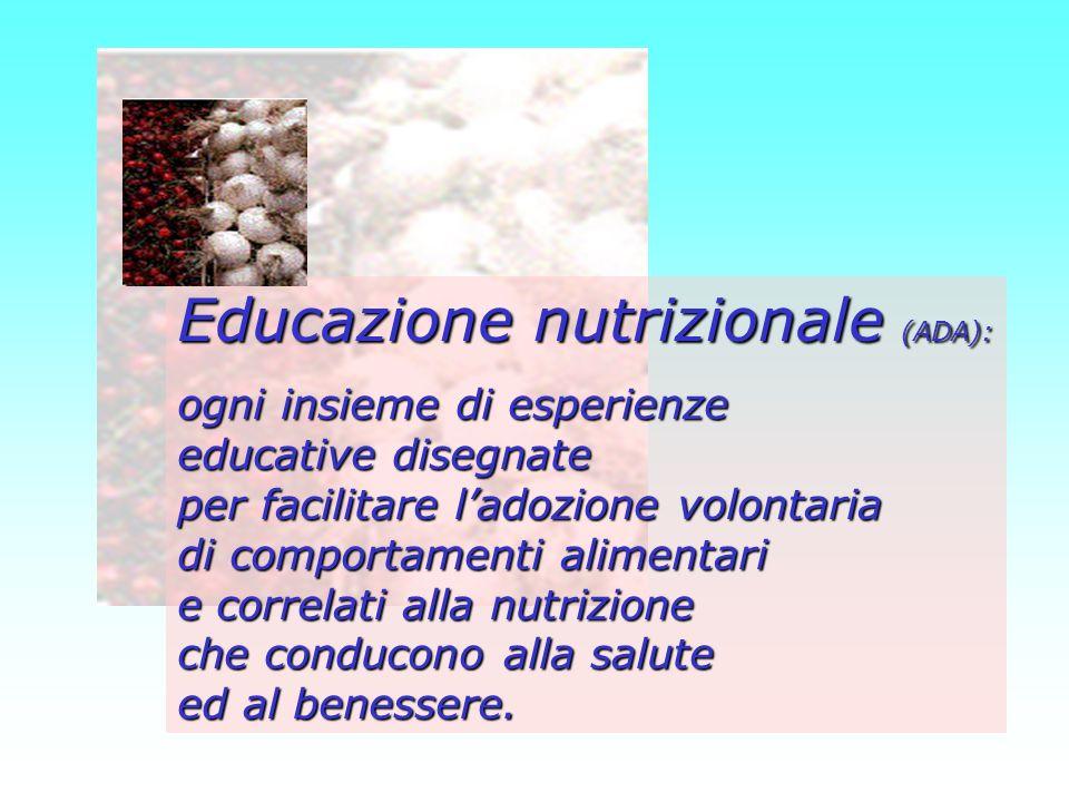 Educazione nutrizionale (ADA):