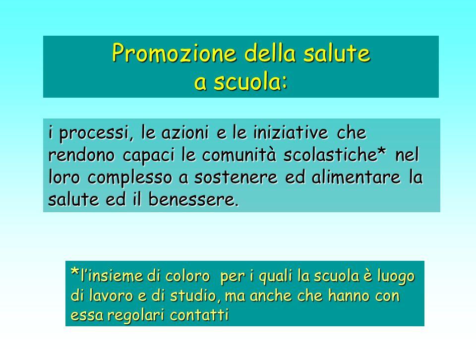 Promozione della salute a scuola:
