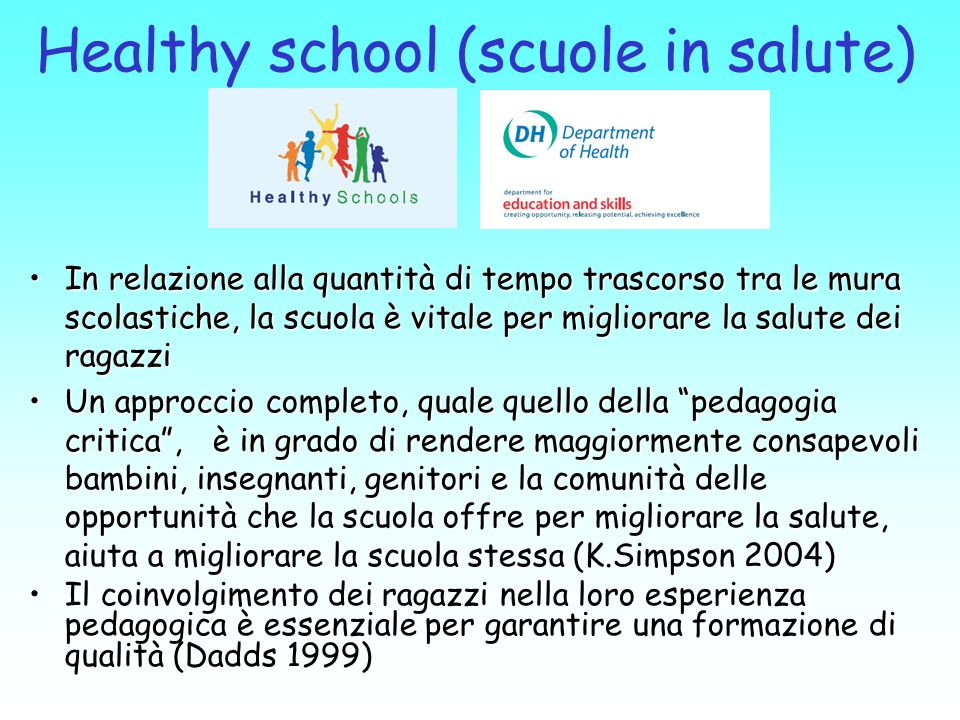 Healthy school (scuole in salute)