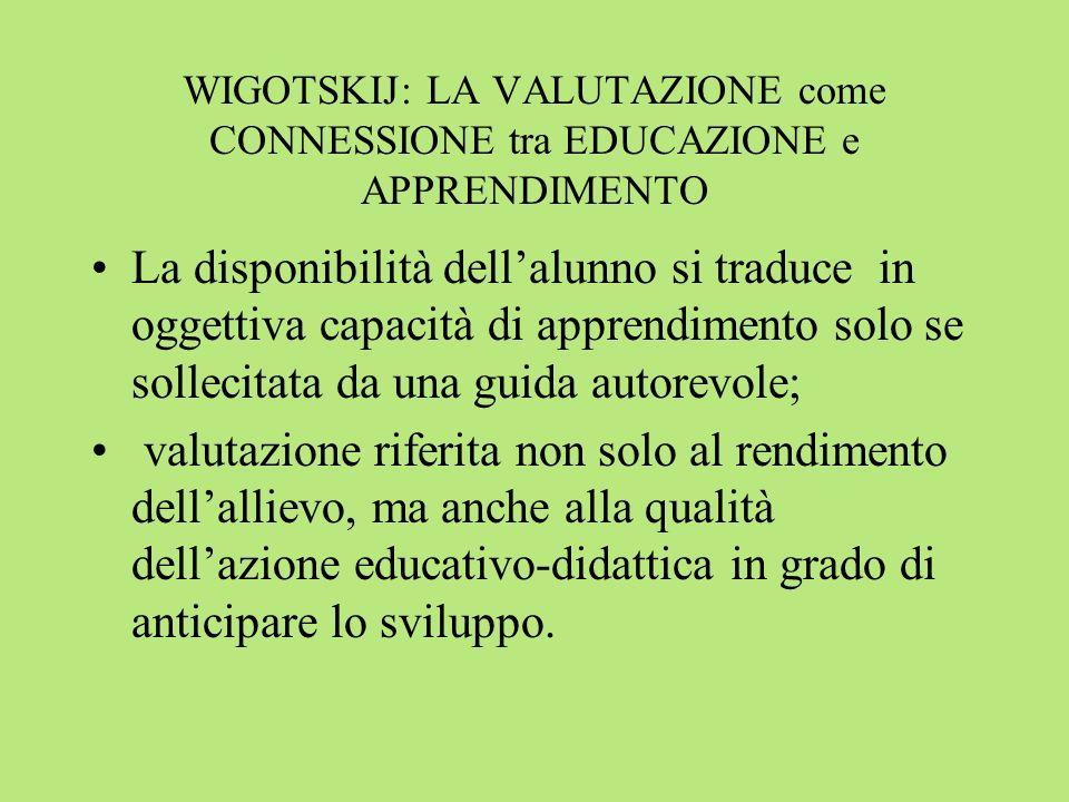 WIGOTSKIJ: LA VALUTAZIONE come CONNESSIONE tra EDUCAZIONE e APPRENDIMENTO
