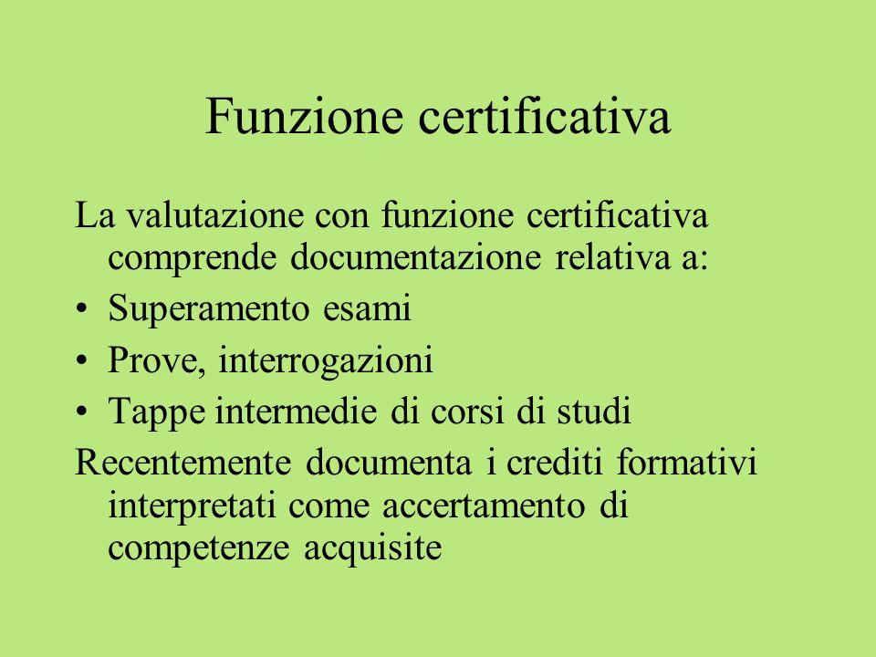 Funzione certificativa
