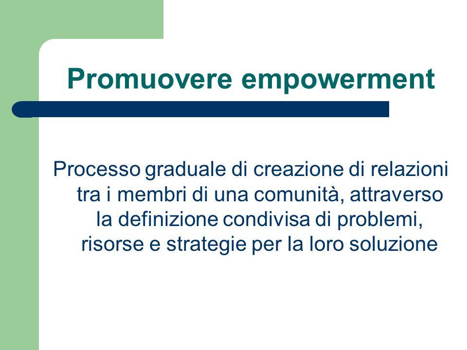 Promuovere empowerment