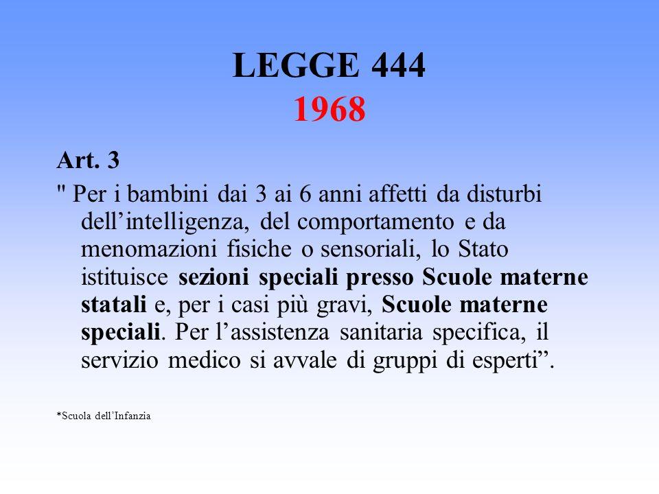 LEGGE 444 1968 Art. 3.