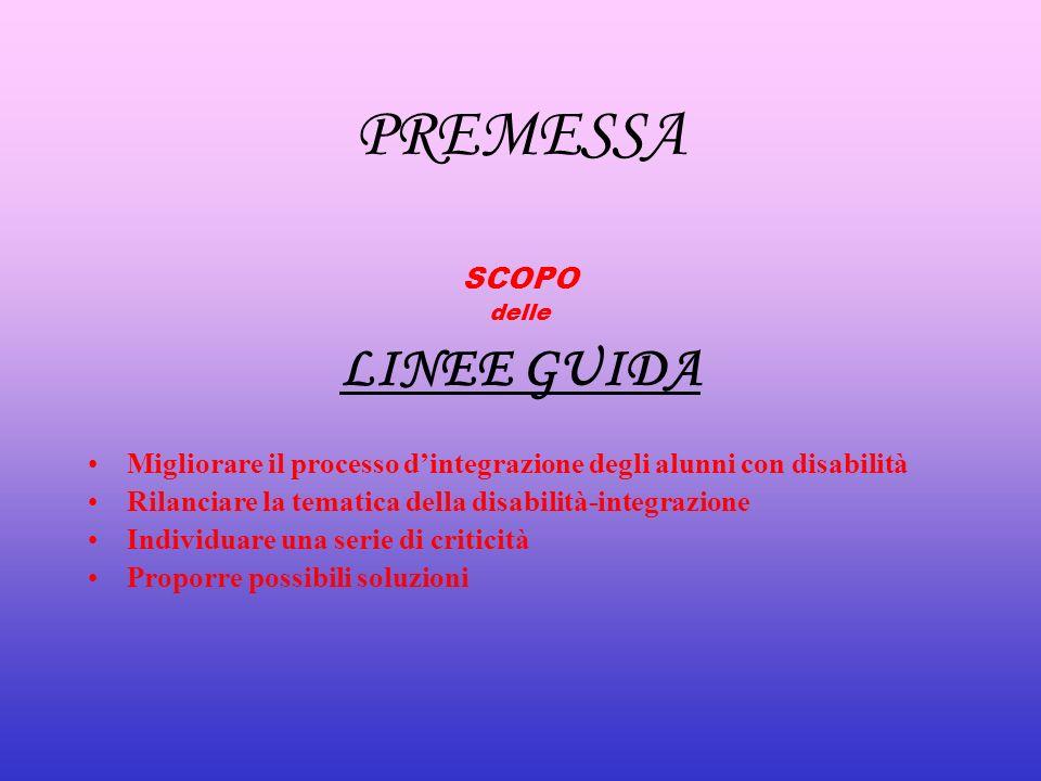PREMESSA LINEE GUIDA SCOPO