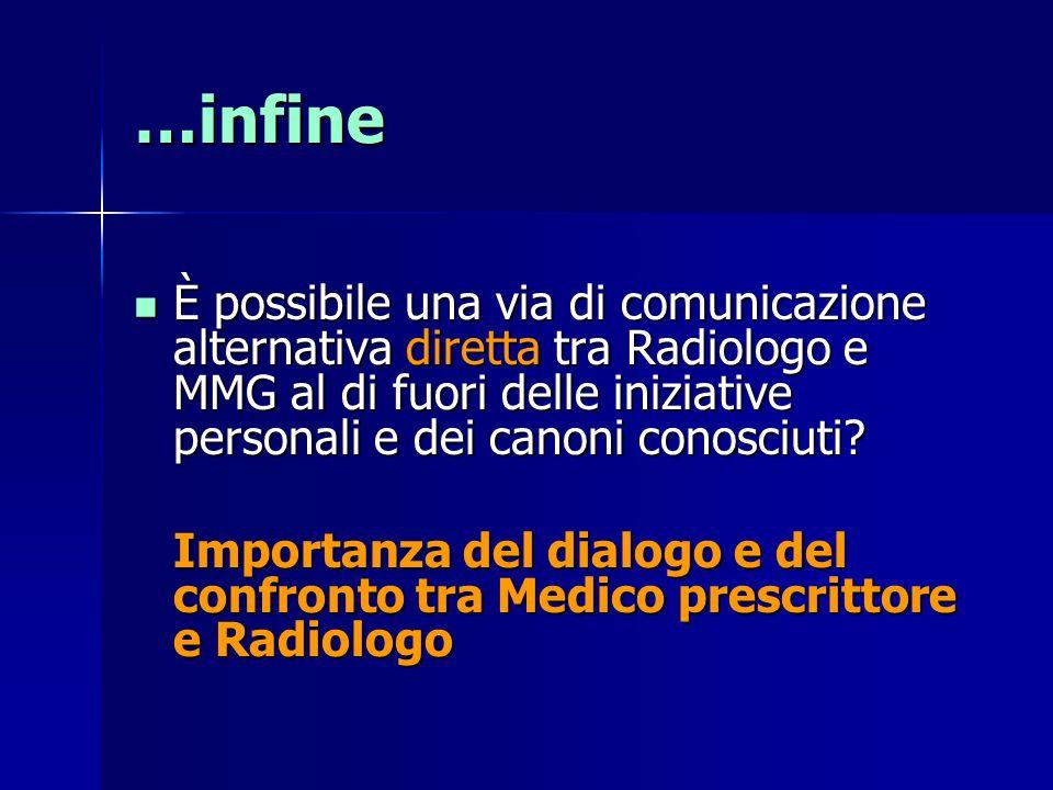 …infine È possibile una via di comunicazione alternativa diretta tra Radiologo e MMG al di fuori delle iniziative personali e dei canoni conosciuti