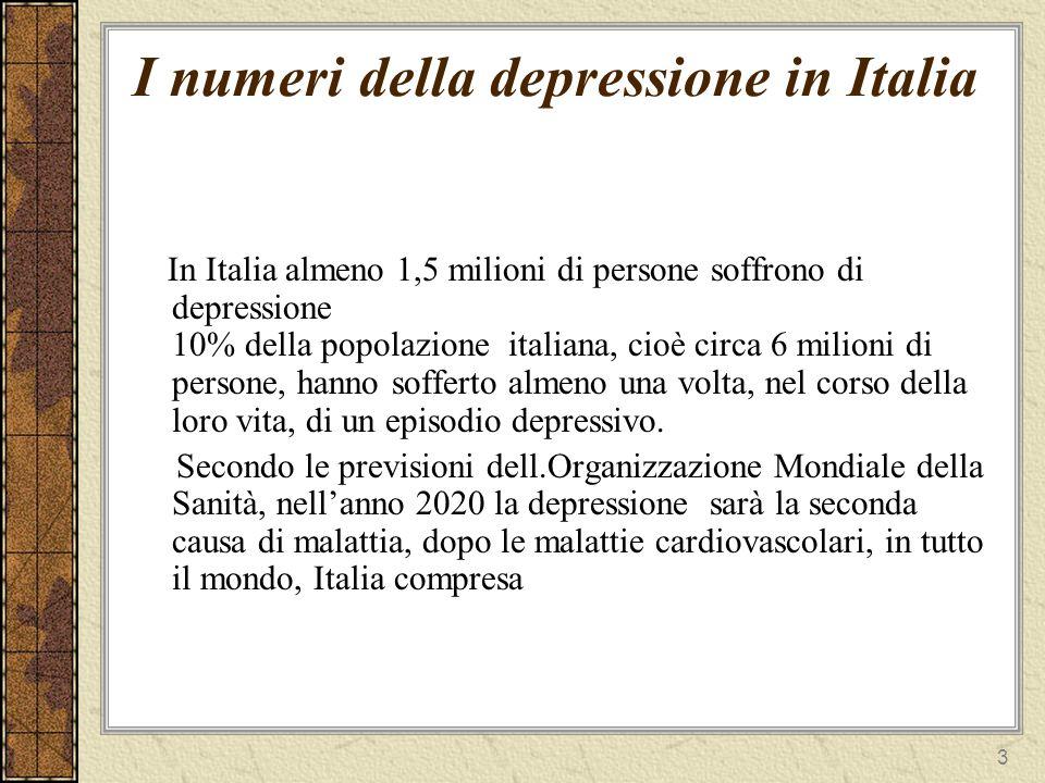 I numeri della depressione in Italia