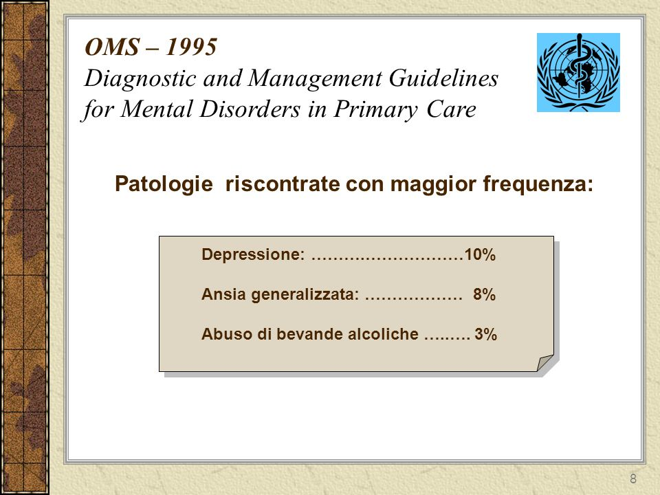 OMS – 1995 Diagnostic and Management Guidelines