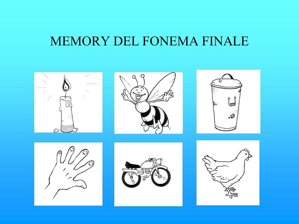 MEMORY DEL FONEMA FINALE