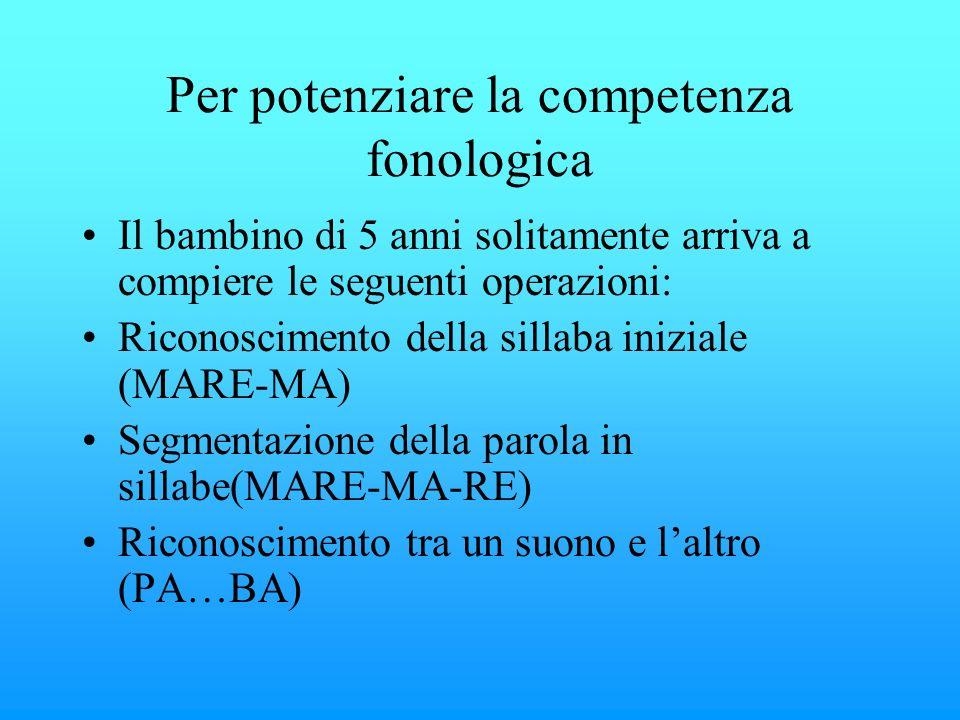 Per potenziare la competenza fonologica