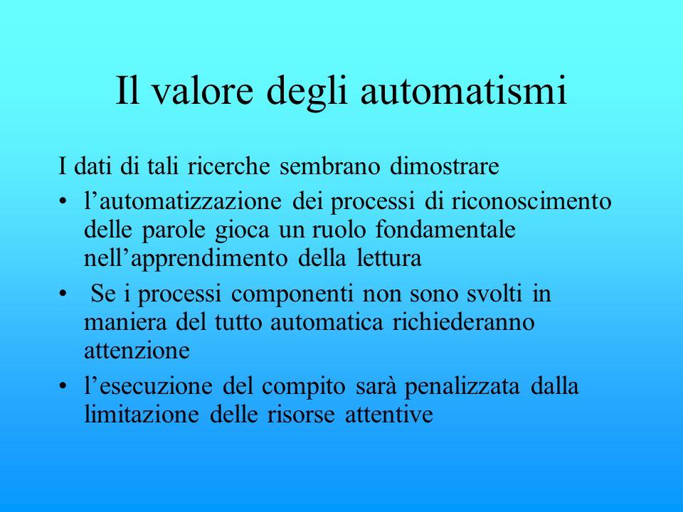 Il valore degli automatismi