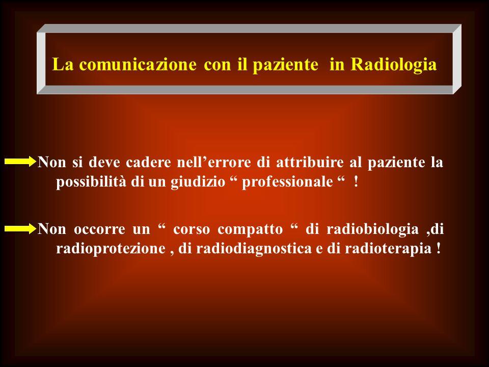 La comunicazione con il paziente in Radiologia