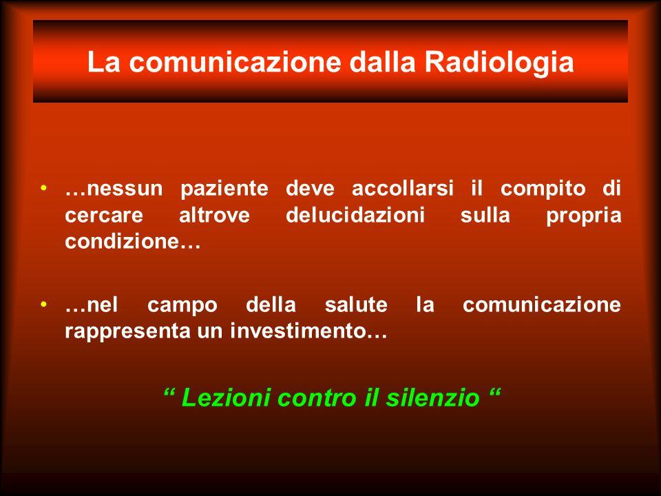 La comunicazione dalla Radiologia
