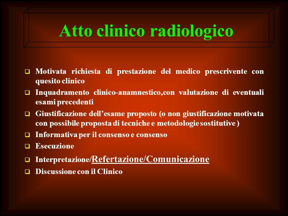 Atto clinico radiologico