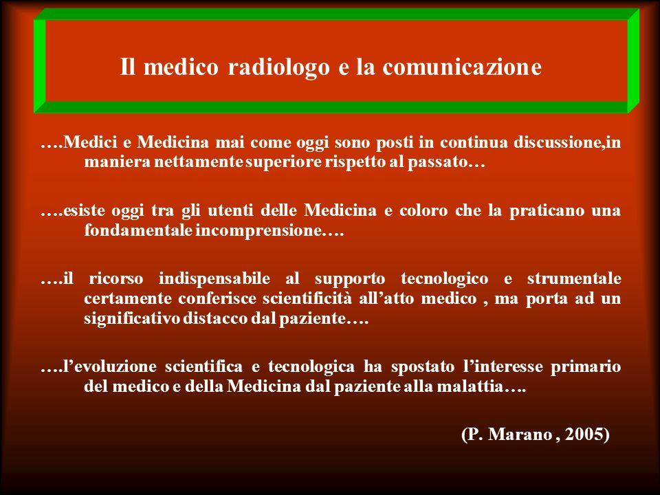 Il medico radiologo e la comunicazione