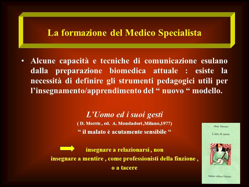 La formazione del Medico Specialista