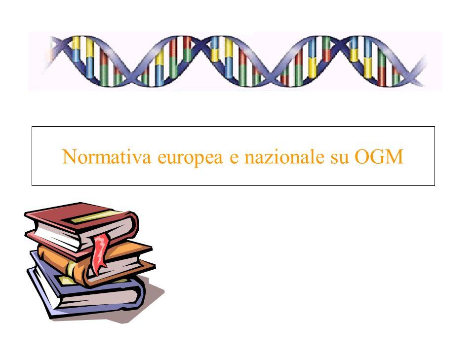 Normativa europea e nazionale su OGM