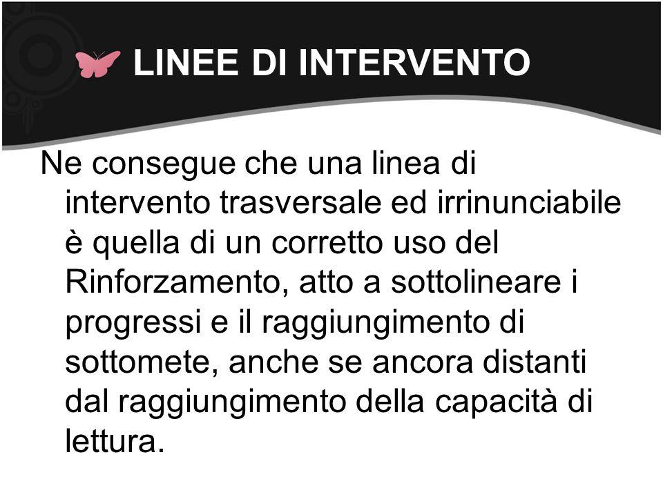 LINEE DI INTERVENTO