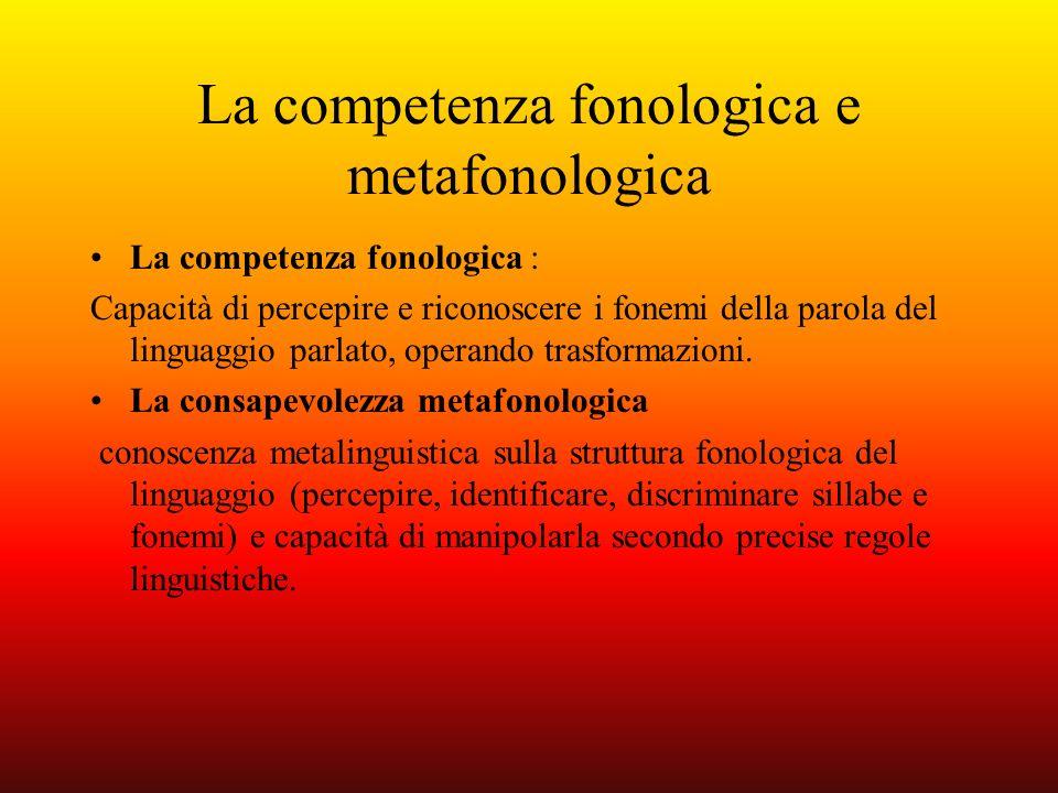 La competenza fonologica e metafonologica