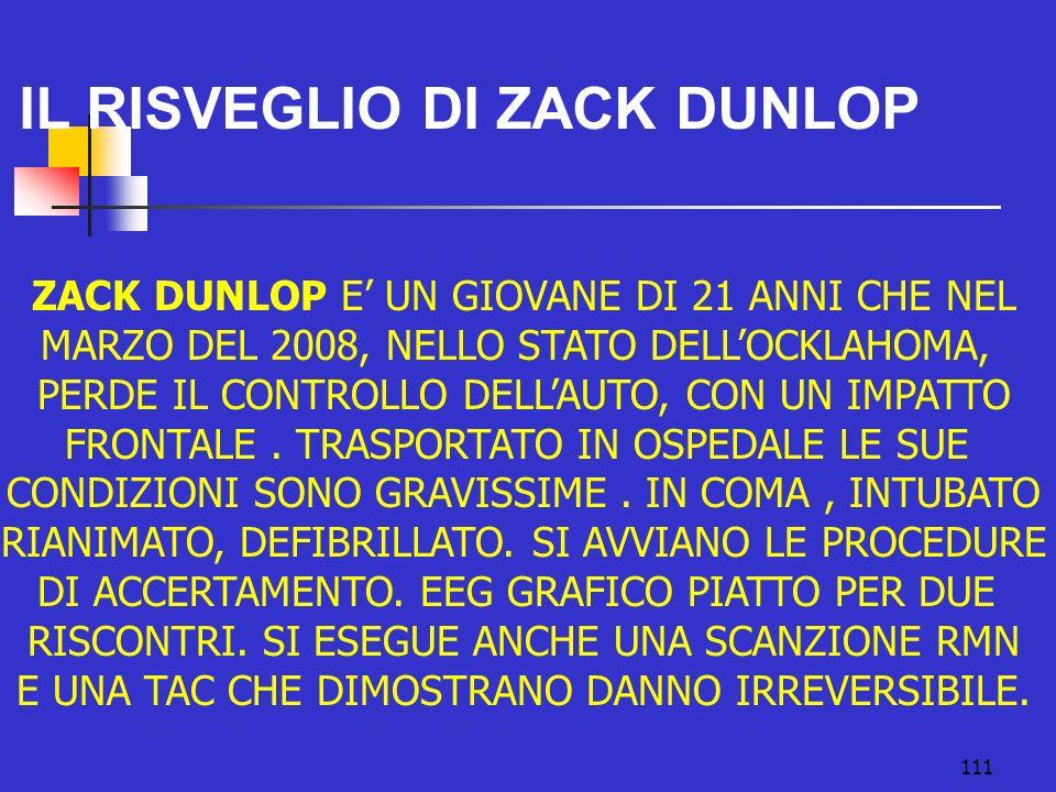 IL RISVEGLIO DI ZACK DUNLOP