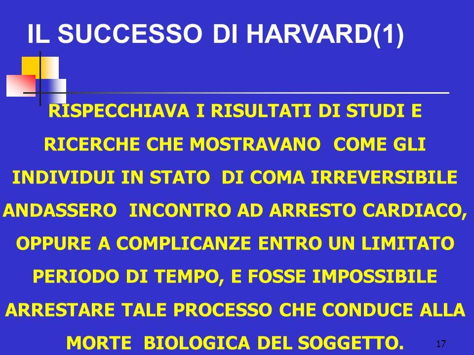 IL SUCCESSO DI HARVARD(1)