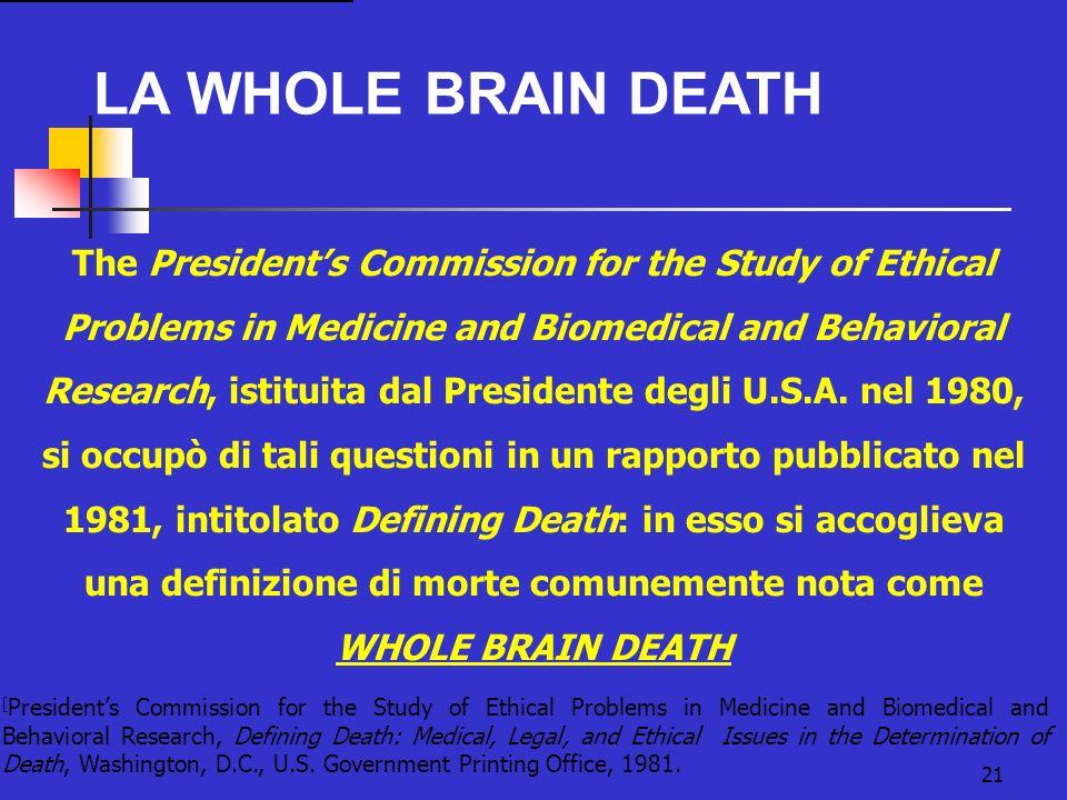 una definizione di morte comunemente nota come