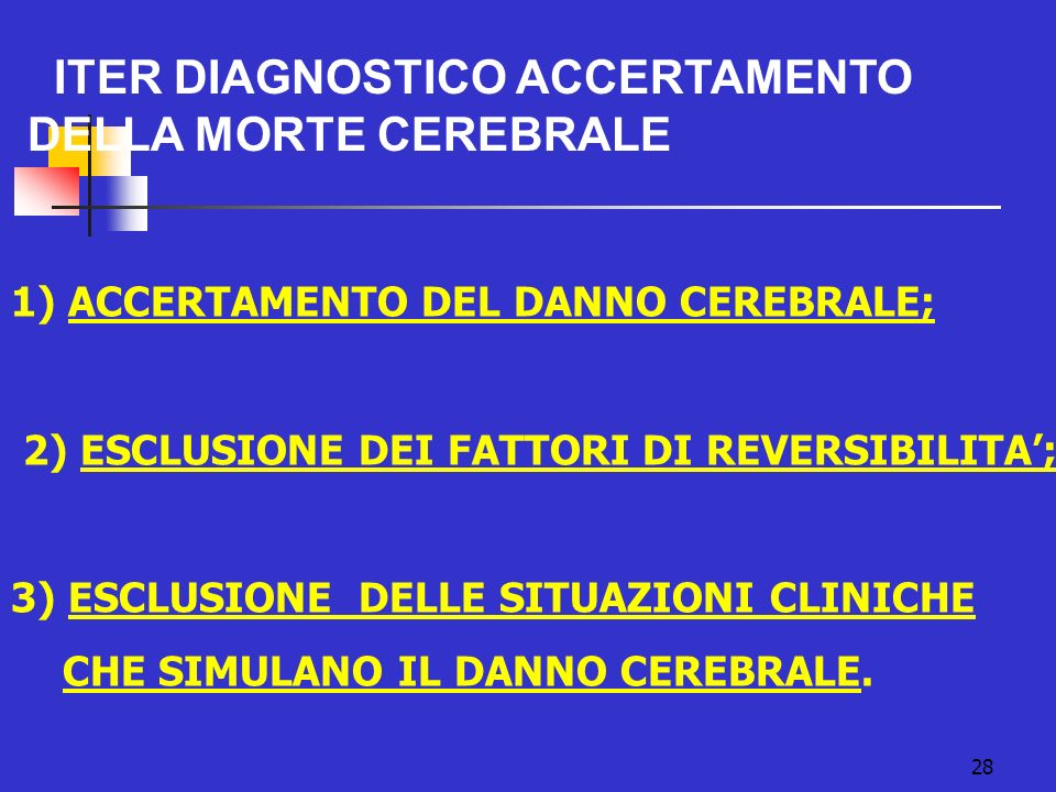 2) ESCLUSIONE DEI FATTORI DI REVERSIBILITA';