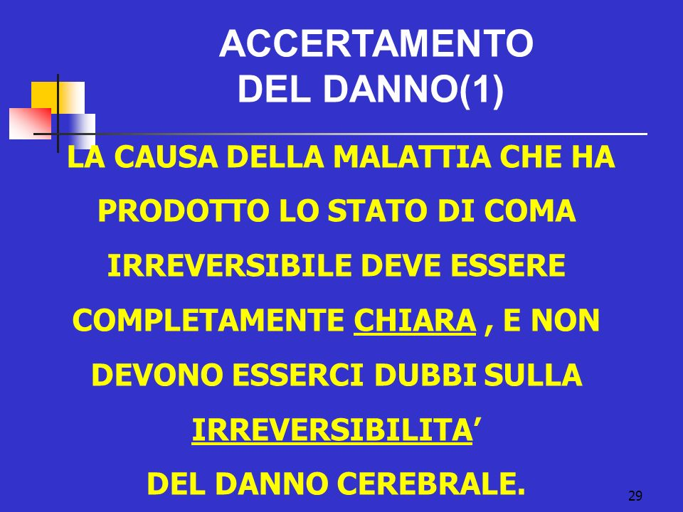 ACCERTAMENTO DEL DANNO(1)